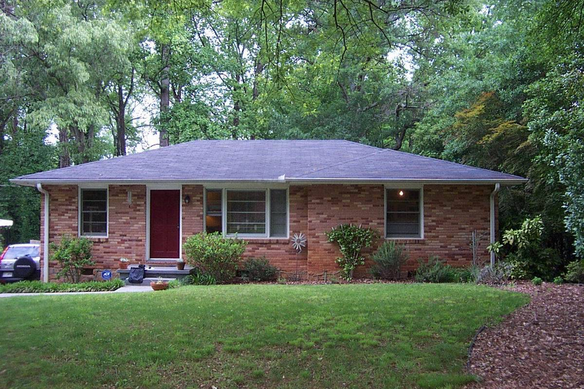 Brick House Exterior Makeover Before After Ranch Remodel